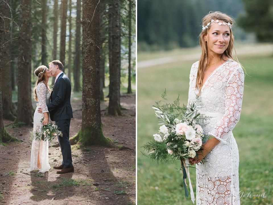 Photographe mariage séance dans la foret et montagne