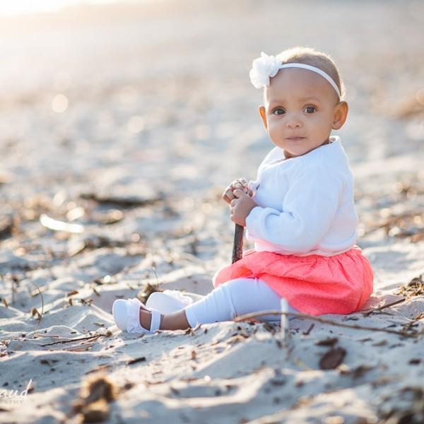 Lyana 8 mois, séance à la plage