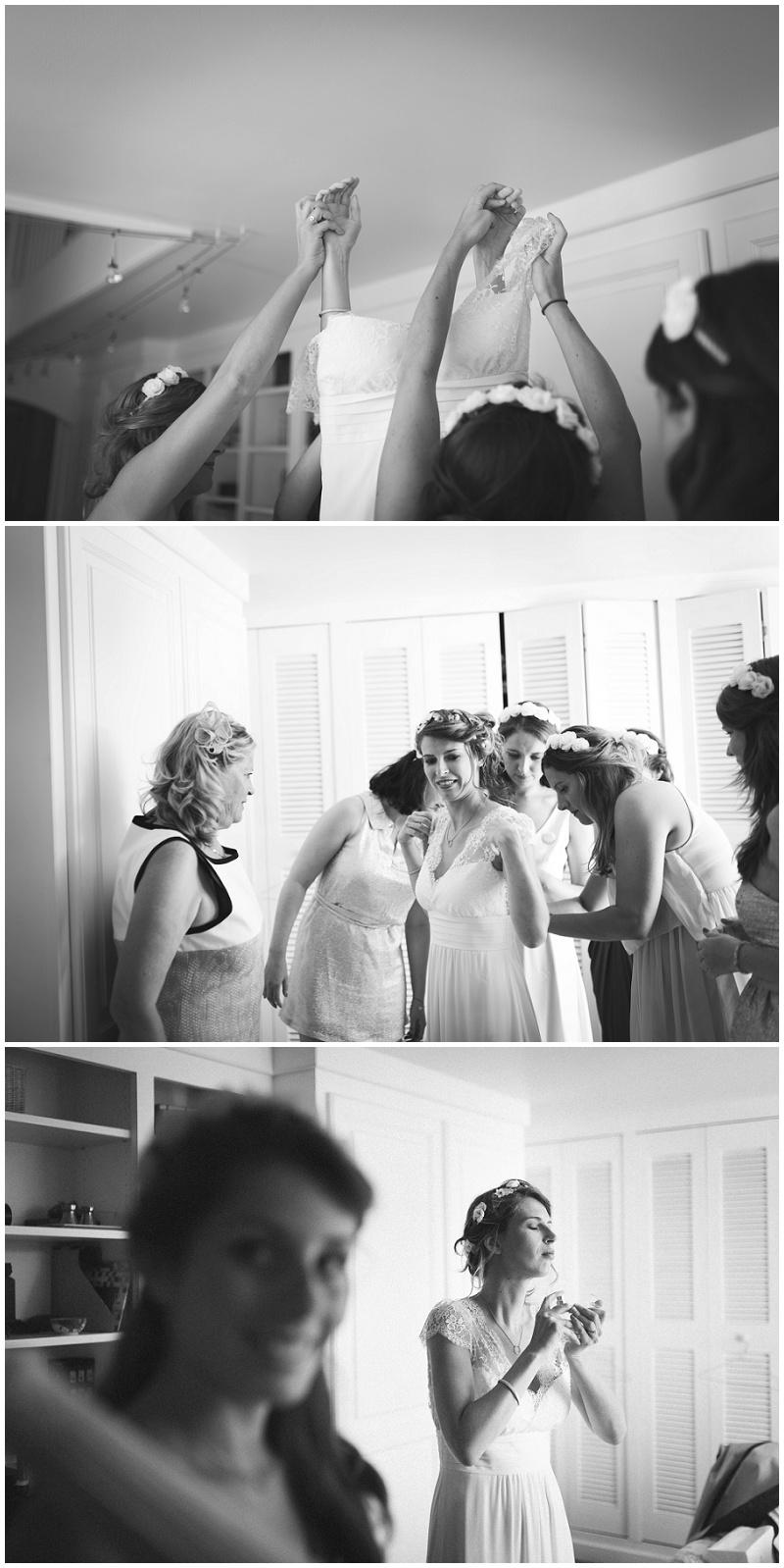 Préparatifs la mariée