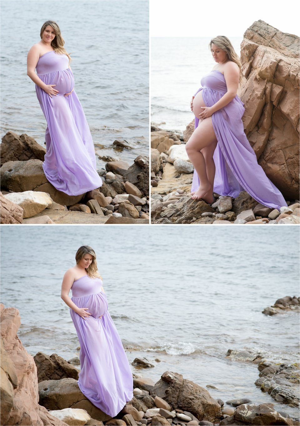 séance de maternité à la plage