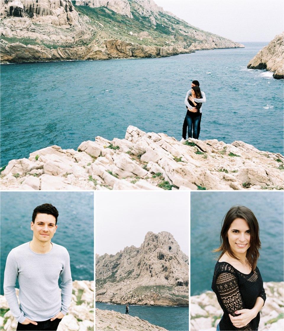 Séance d'engagement au calanques de Marseille sur film Portra 400 - Lucia Gohaud Photographe mariage Var Côte d'Azur-001