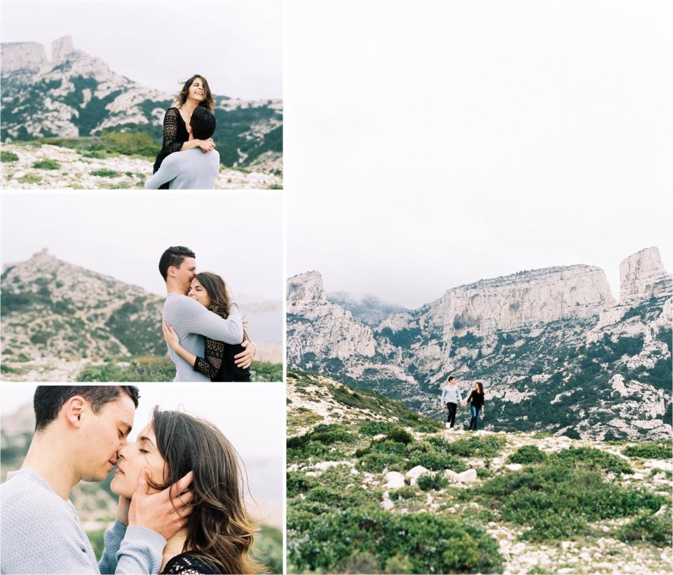 Séance d'engagement au calanques de Marseille sur film Portra 400 - Lucia Gohaud Photographe mariage Var Côte d'Azur-005