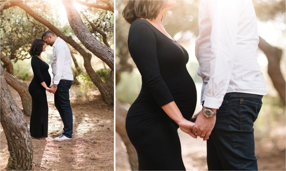 couple pendant séance de grossesse