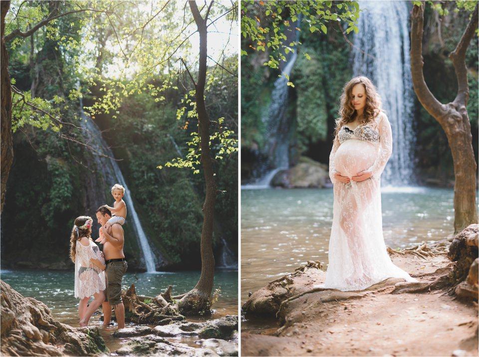 superbe future maman avec son enfant