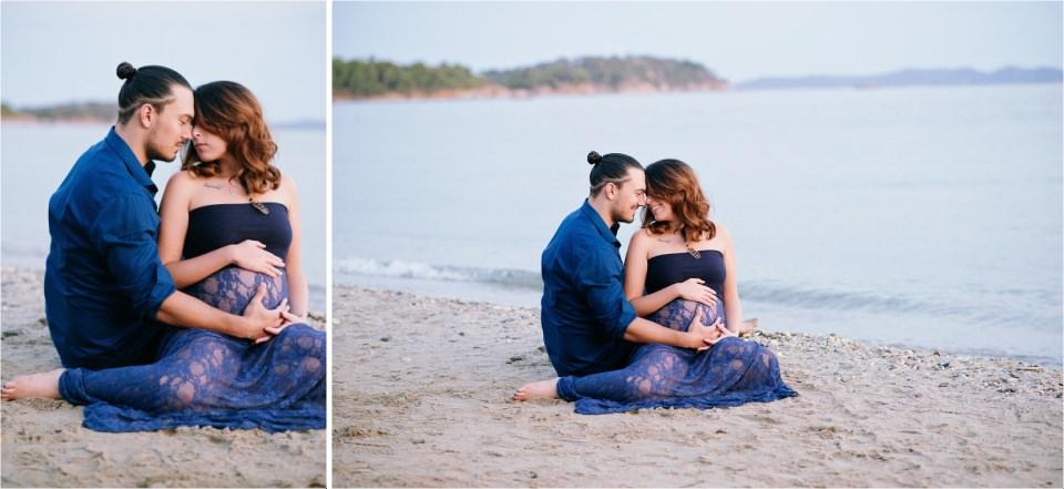 Magnifique couple avec ventre rond