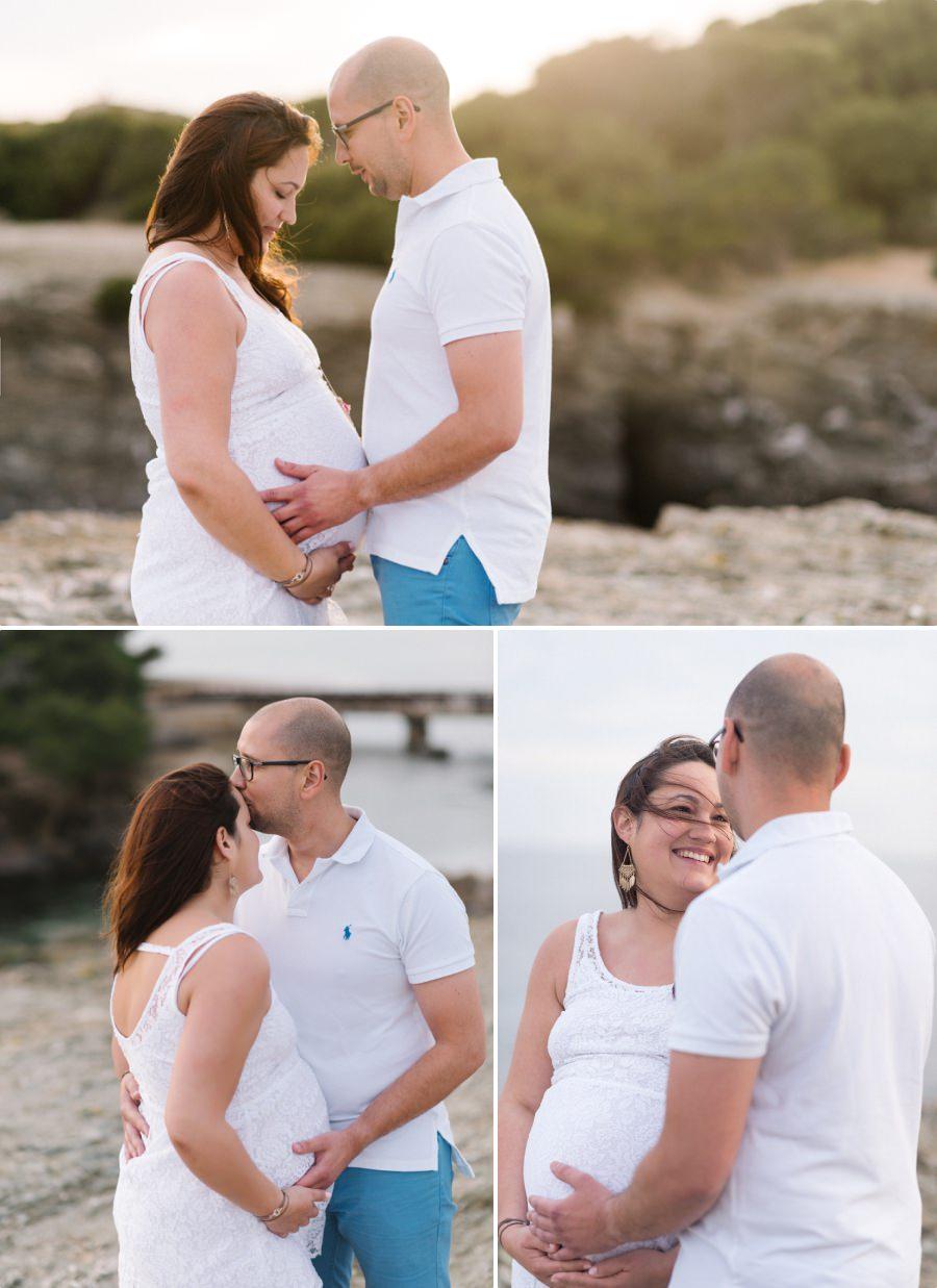 couple en séance de grossesse