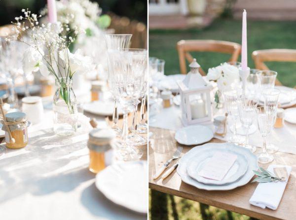 Décoration de table de mariage dans le jardin familial - Wedding in Provence