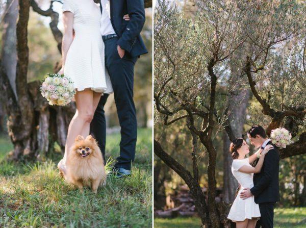 Mariage intimiste en automne en Provence