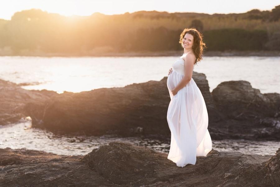 grossesse au coucher de soleil