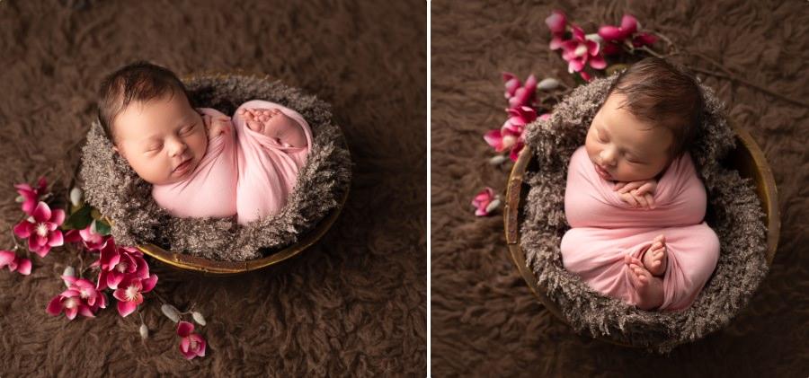 Formation newborn posing
