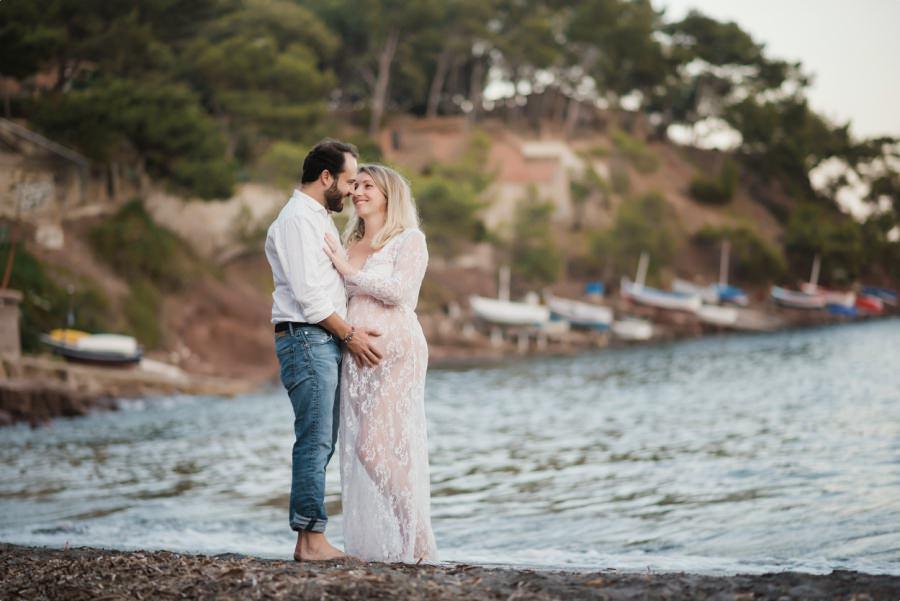 Séance de couple à la plage