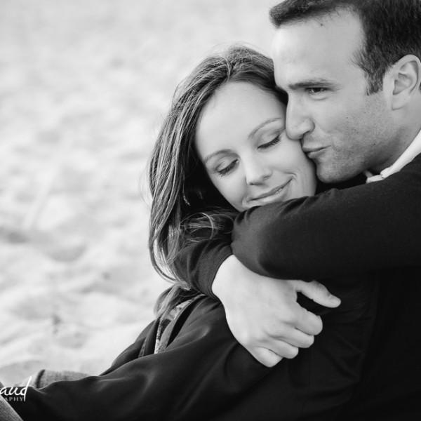 Séance d'engagement à la plage - Denise&Charles