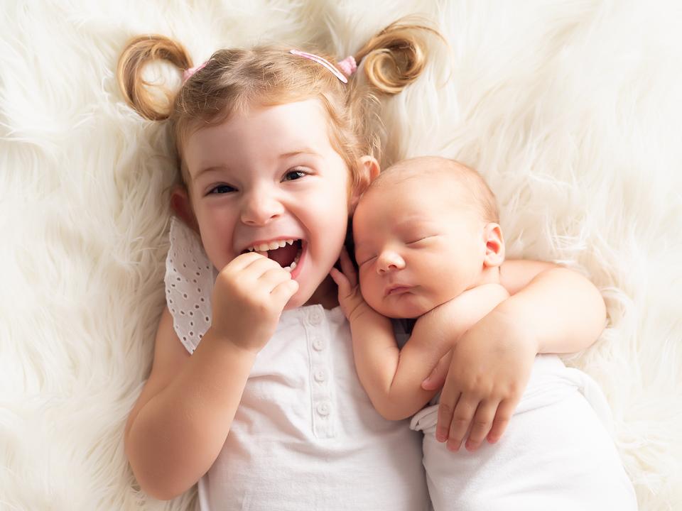 happy big sister