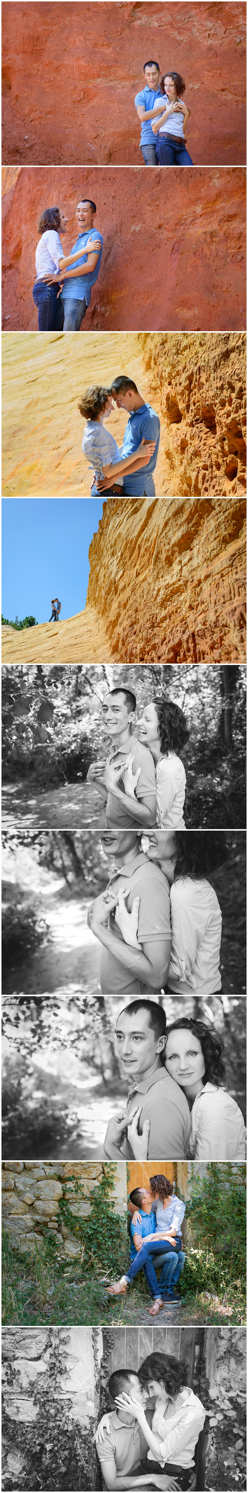 Séance d'engagement au Colorado provencal - Photographe de Mariage Lucia Gohaud