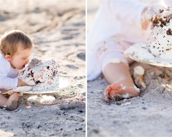 Smash the cake à la plage d'Hyères