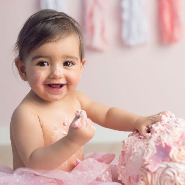 Séance photo d'anniversaire avec le gâteau - Smash the Cake
