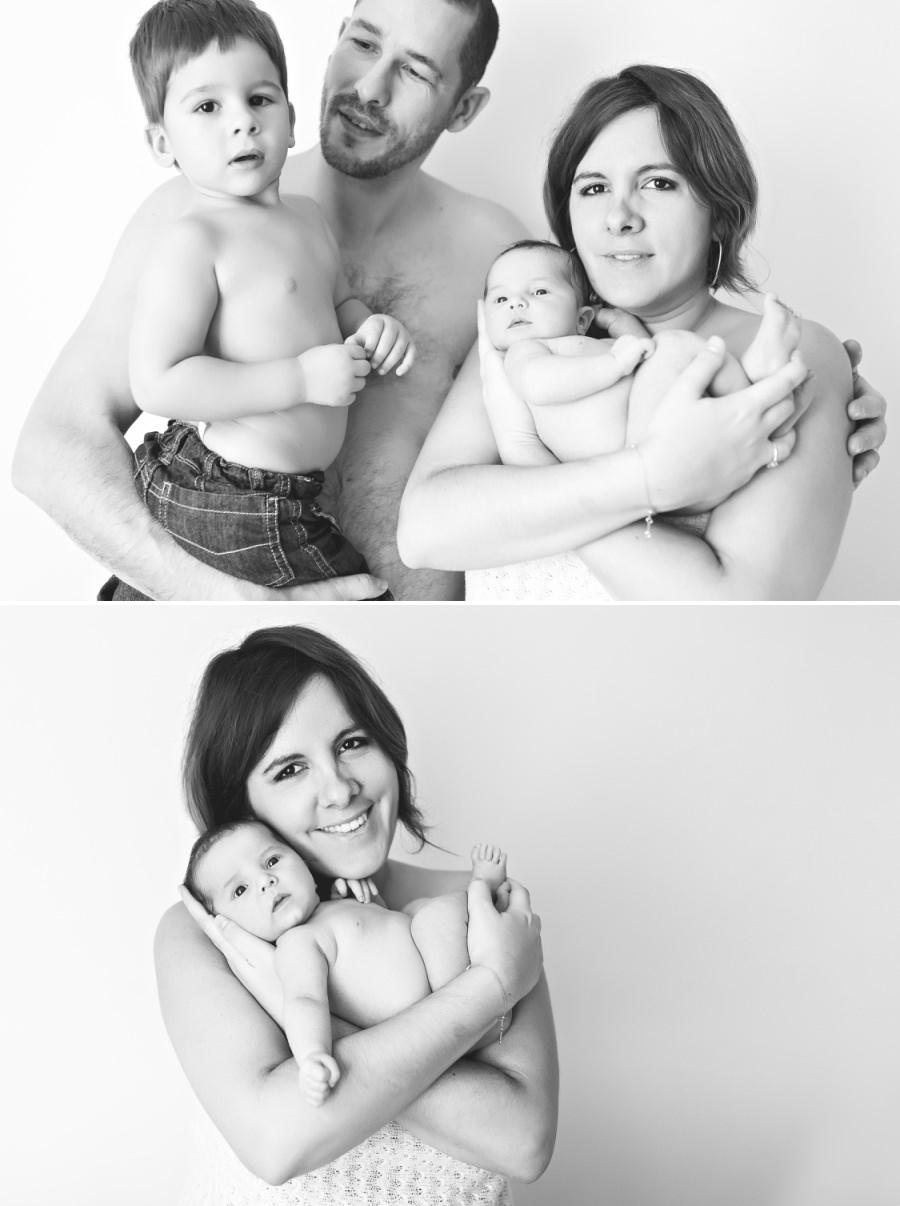 séance de naissance en famille