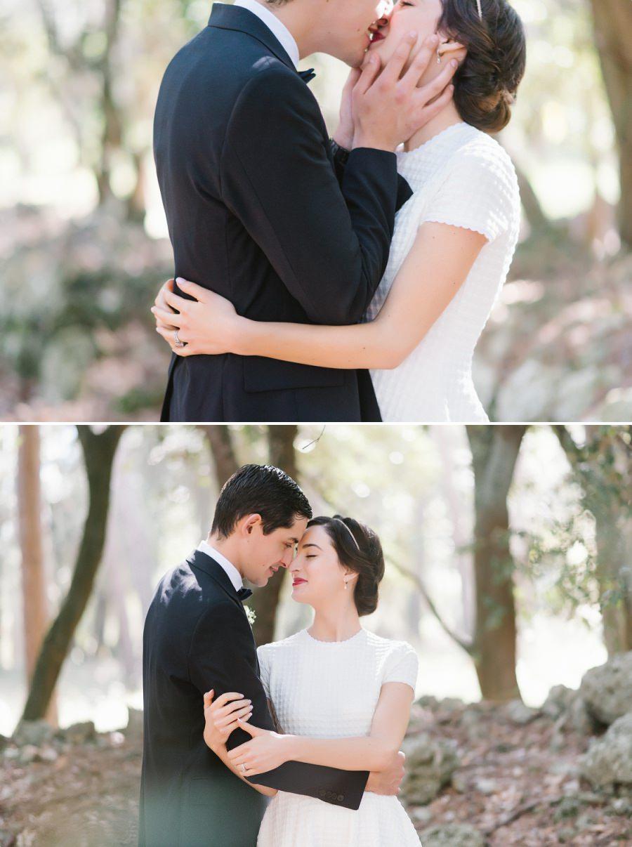 mariée avec la robe courte