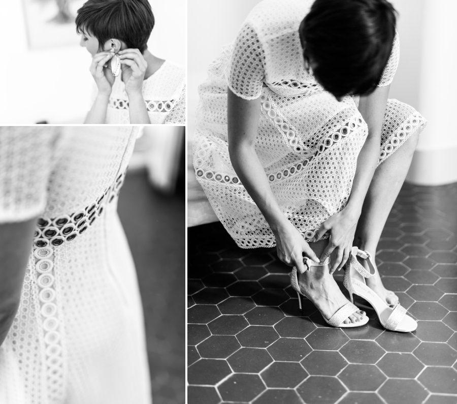 La mariée en robe courte