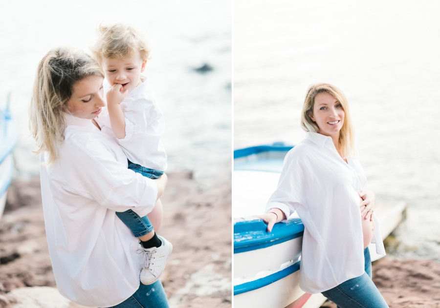 magnifique future maman a la plage