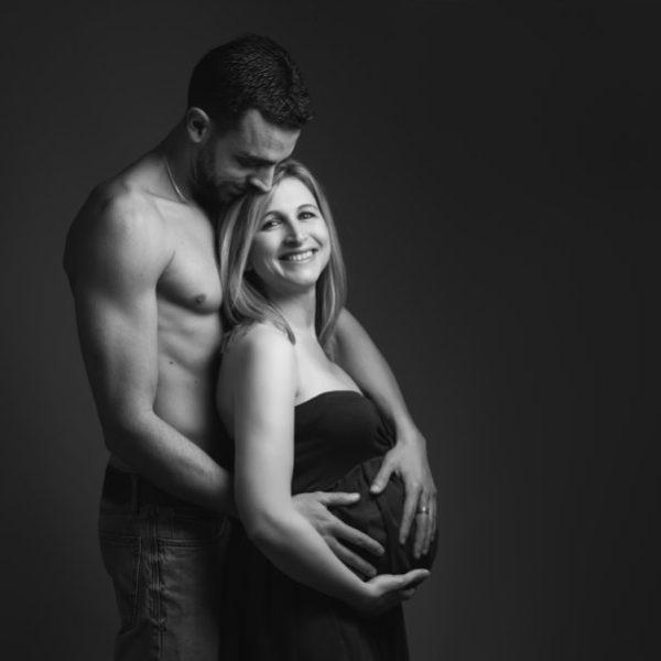 Séance de grossesse au studio - Audrey&Loïs&Lola