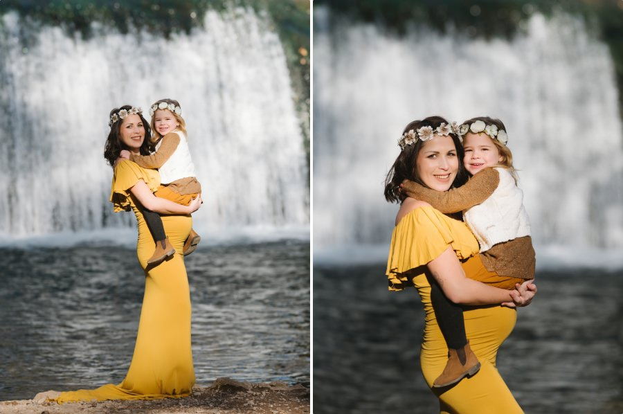 séance grossesse en famille en hiver